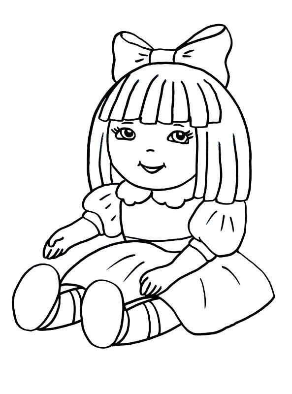 раскраска кукла для мальчиков