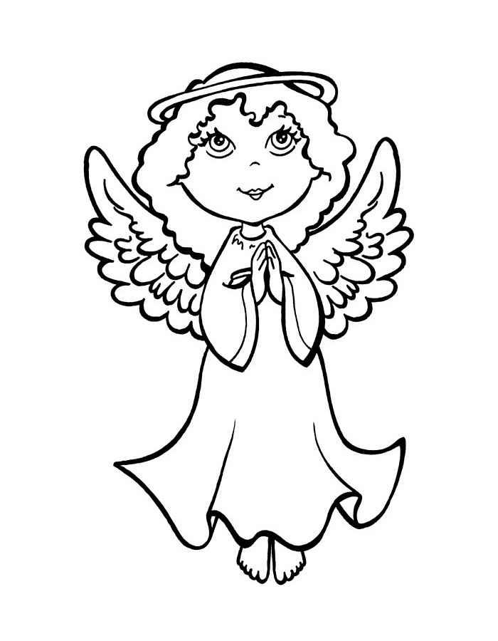 Раскраска ангел - 4