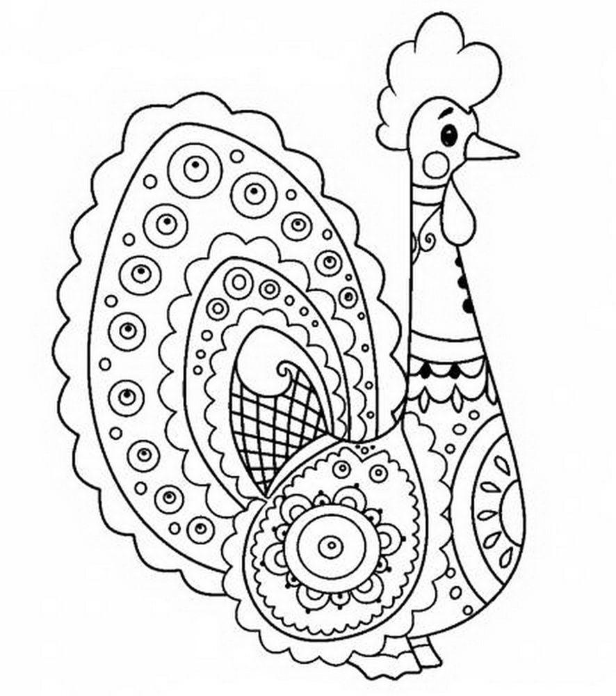 раскраски дымковская игрушка скачать и распечатать бесплатно