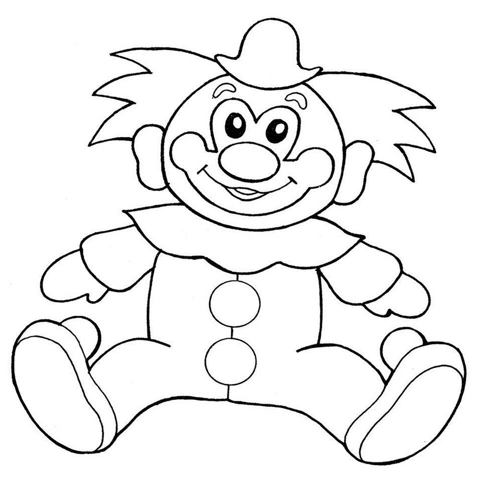 Рисунки клоуна раскраска