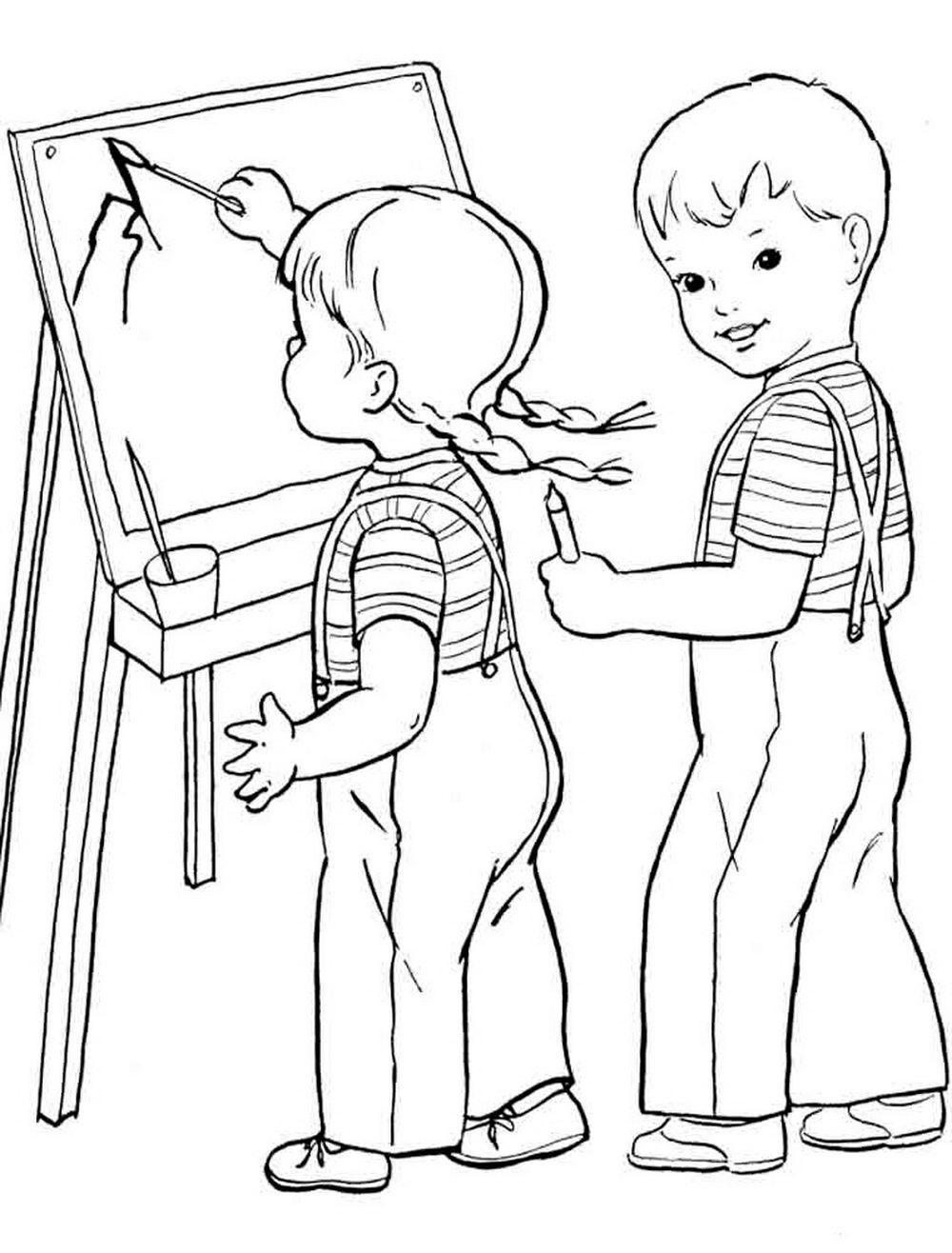 Ребенок дети рисунки раскраска