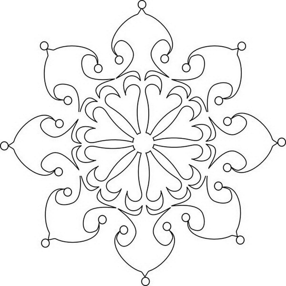 Раскраски Снежинки скачать и распечатать бесплатно