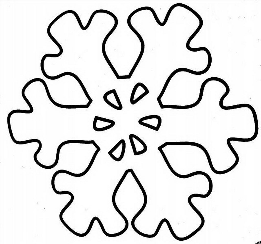 Раскраска снежинки распечатать
