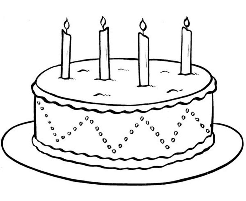 Картинки раскраска торт