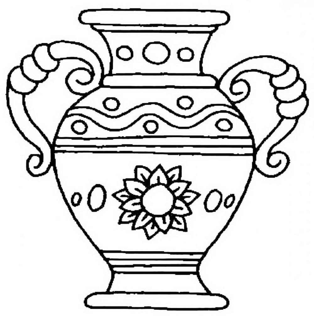 Картинка вазы для раскраски