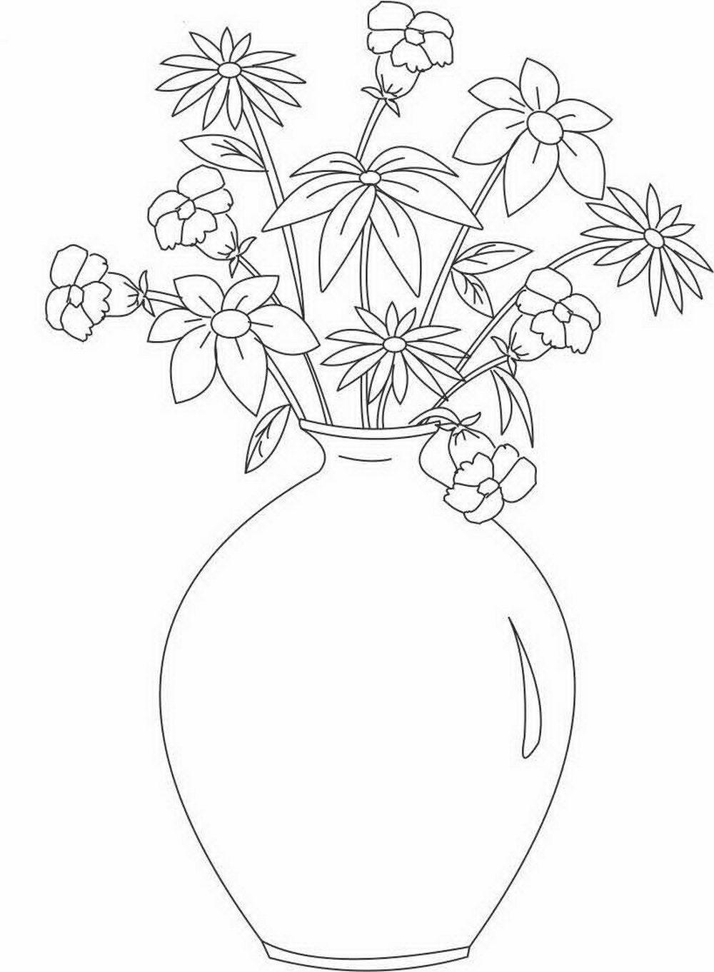 Раскраска для детей ваза 3