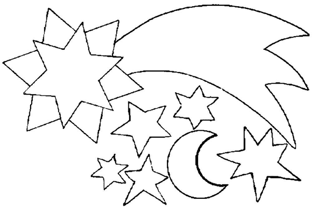 Картинка для раскраски звезда 108