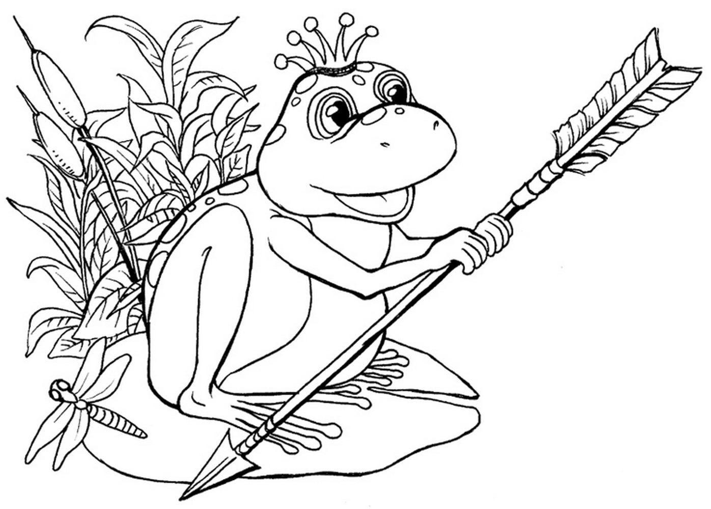 Сказка царевна лягушка раскраски