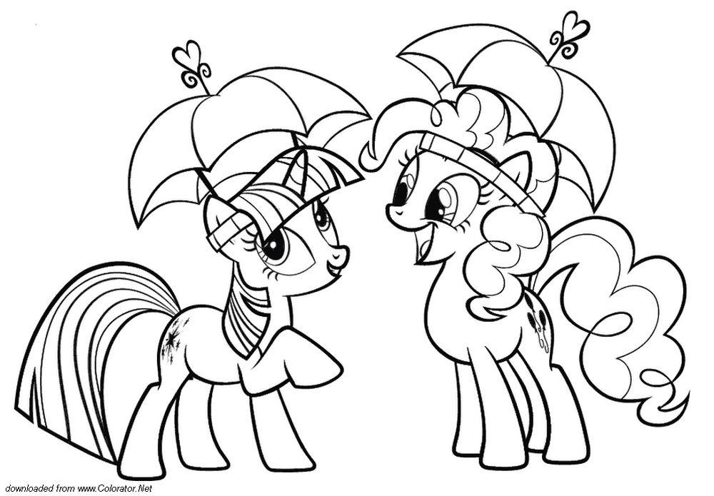 Раскраску онлайн пони