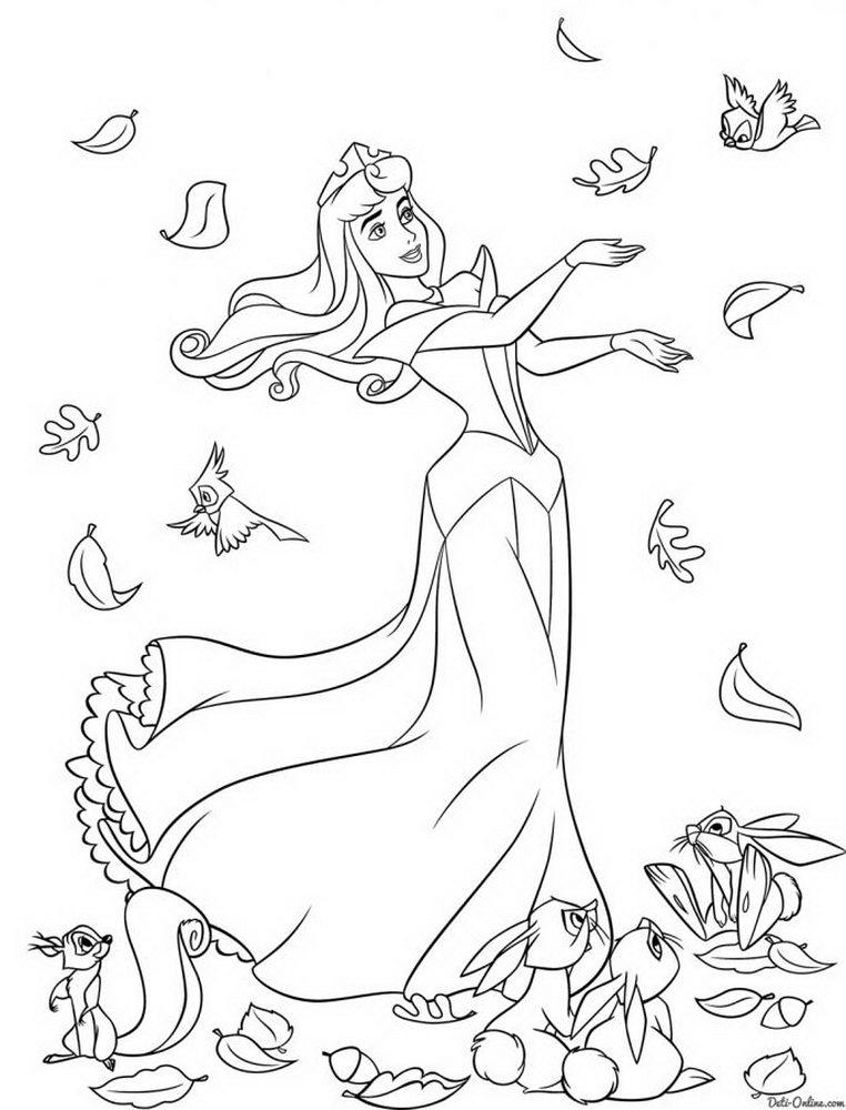 Раскраска для девочек распечатать принцессы диснея