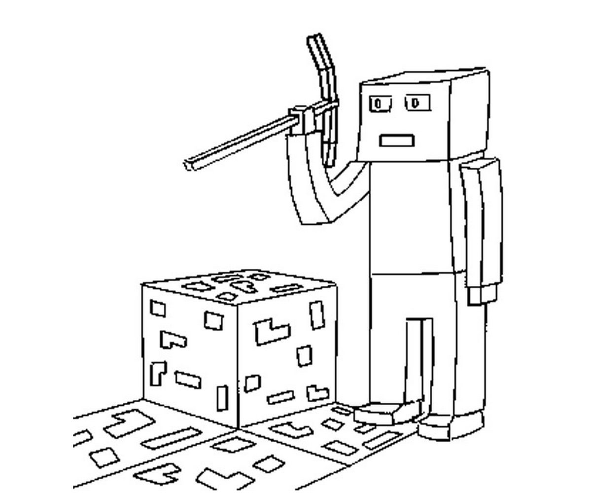 Image 49 Of 50 Part Of Minecraft Coloring Pages Herobrine Ekr