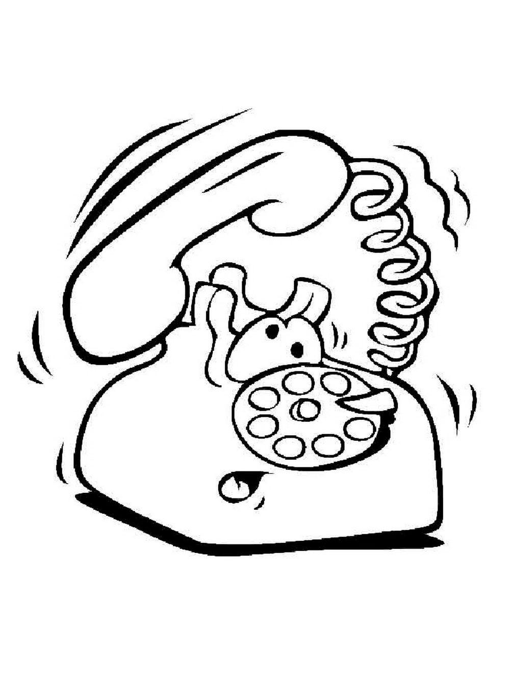 Телефон в рисунках раскрасках