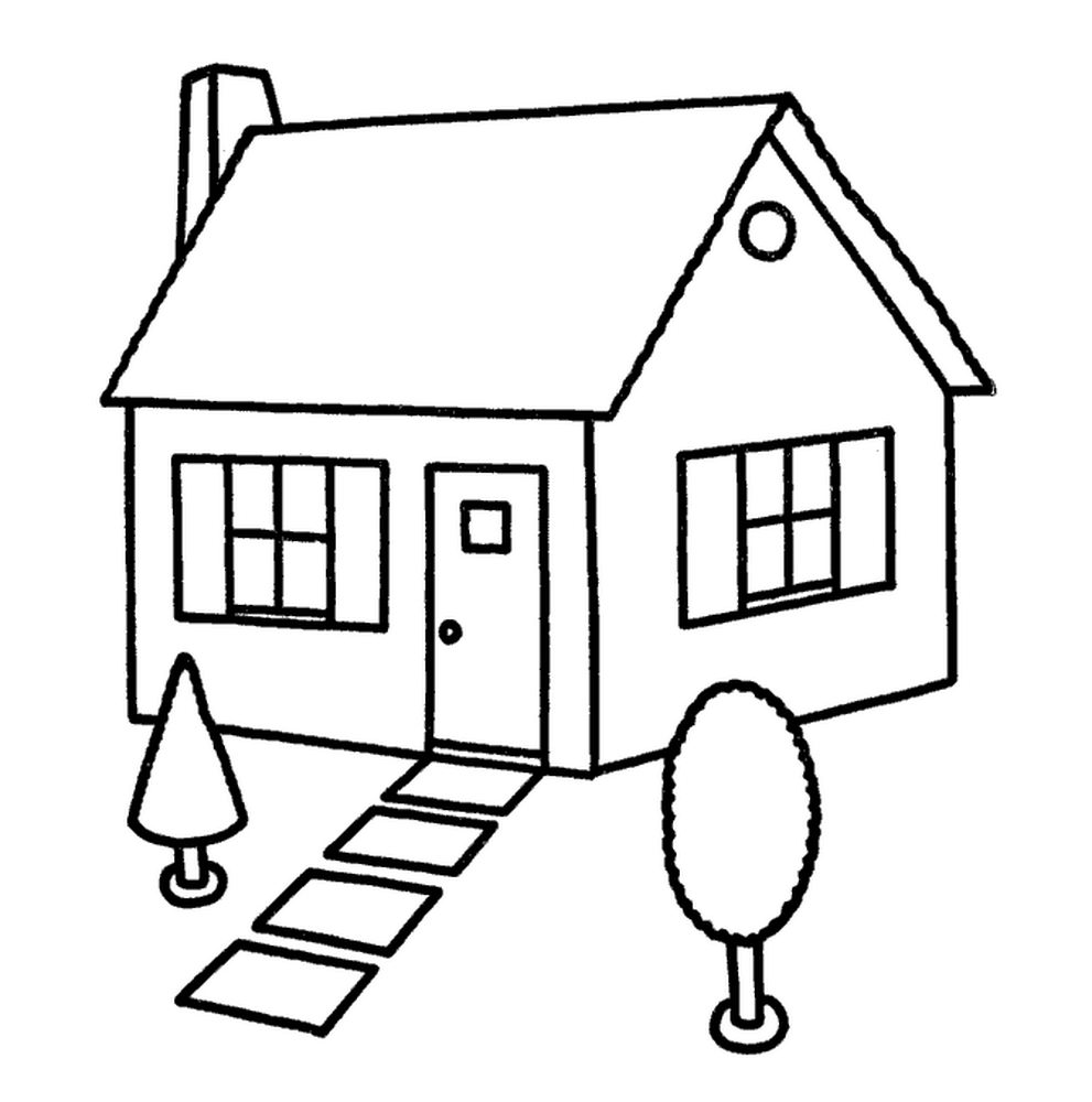 Распечатать раскраски дома