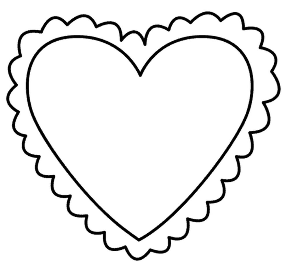 Раскраски в сердечках