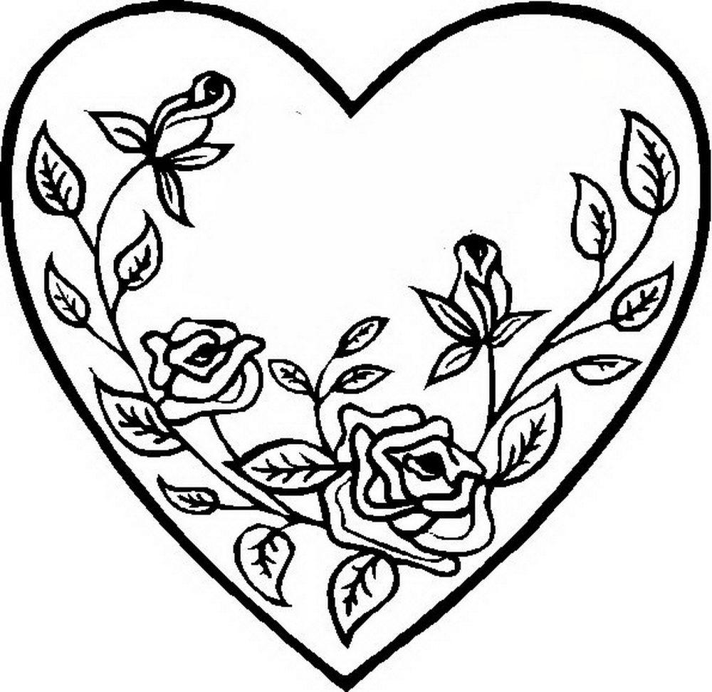 раскраски сердечки картинки