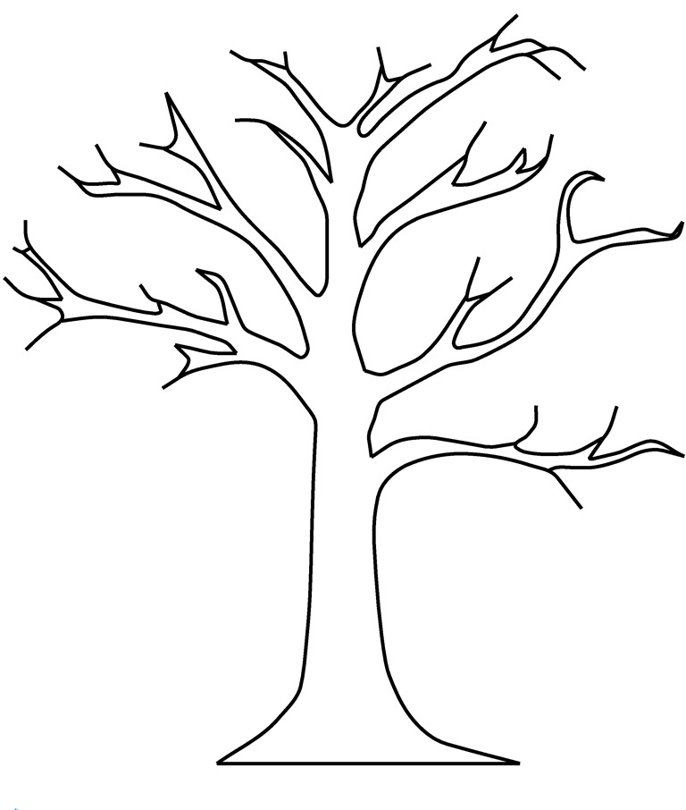 Шаблон нарисованного дерева