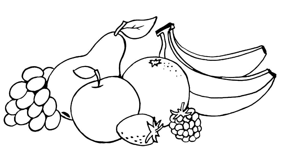 Раскраска фрукты для мальчика