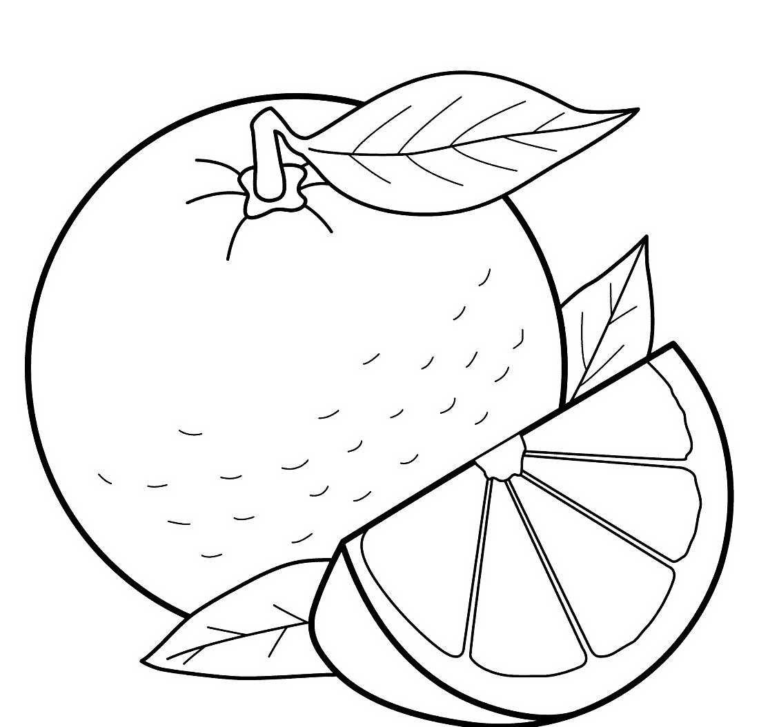 Картинки раскраска фрукты для детей