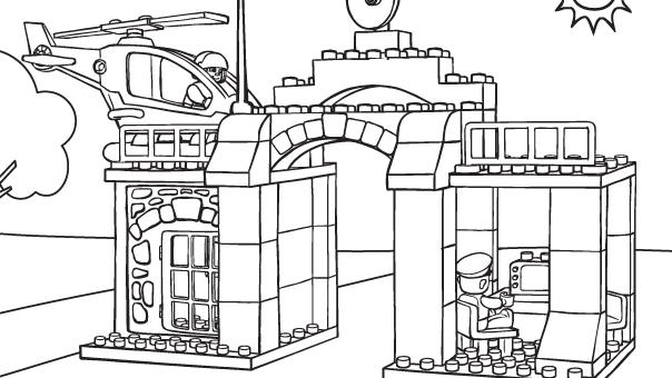 Город лего раскраска