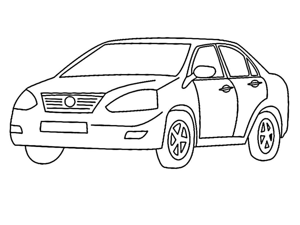 Машина-ребенок раскраска