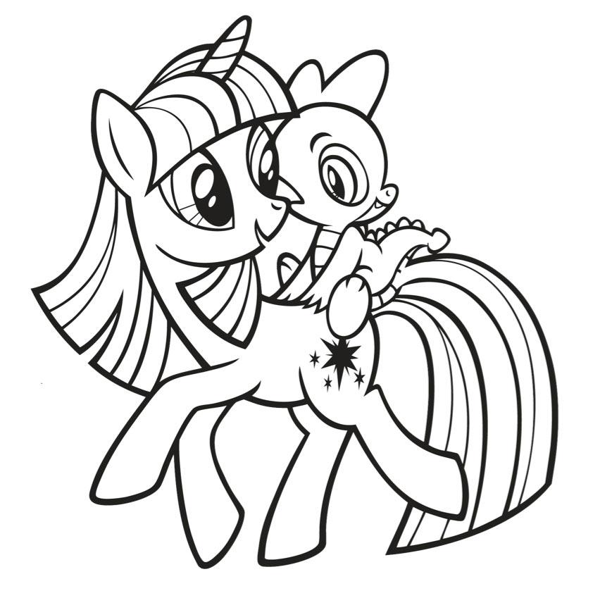 Пони твайлайт спаркл раскраски