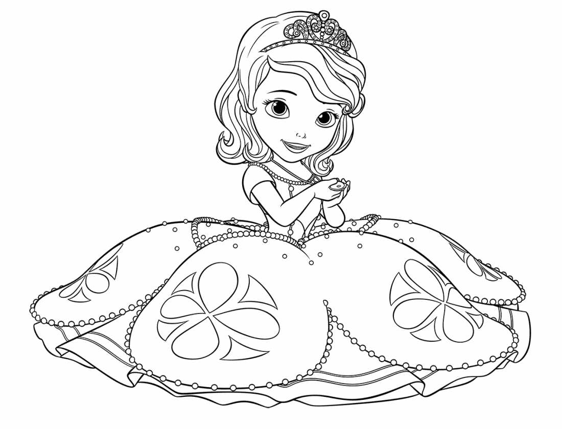 Раскраска принцесса сафия