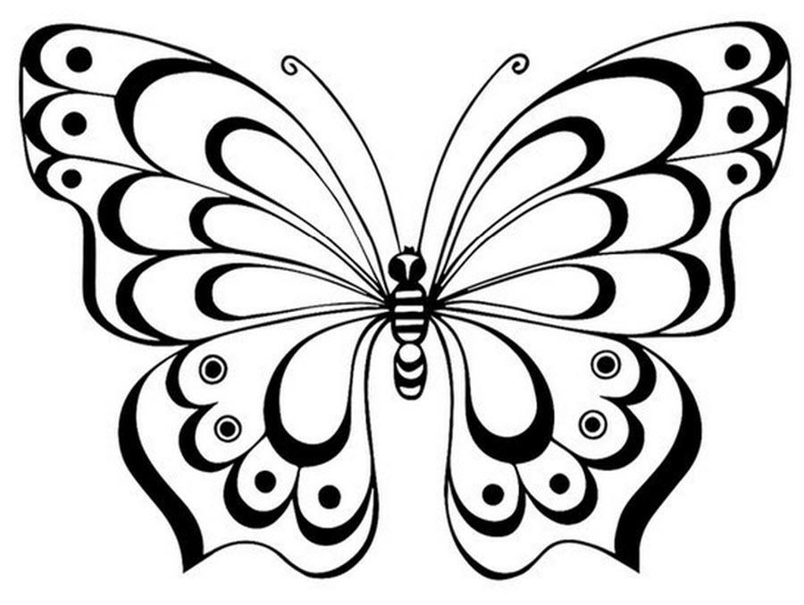 Бабочка трафарет с рисунком