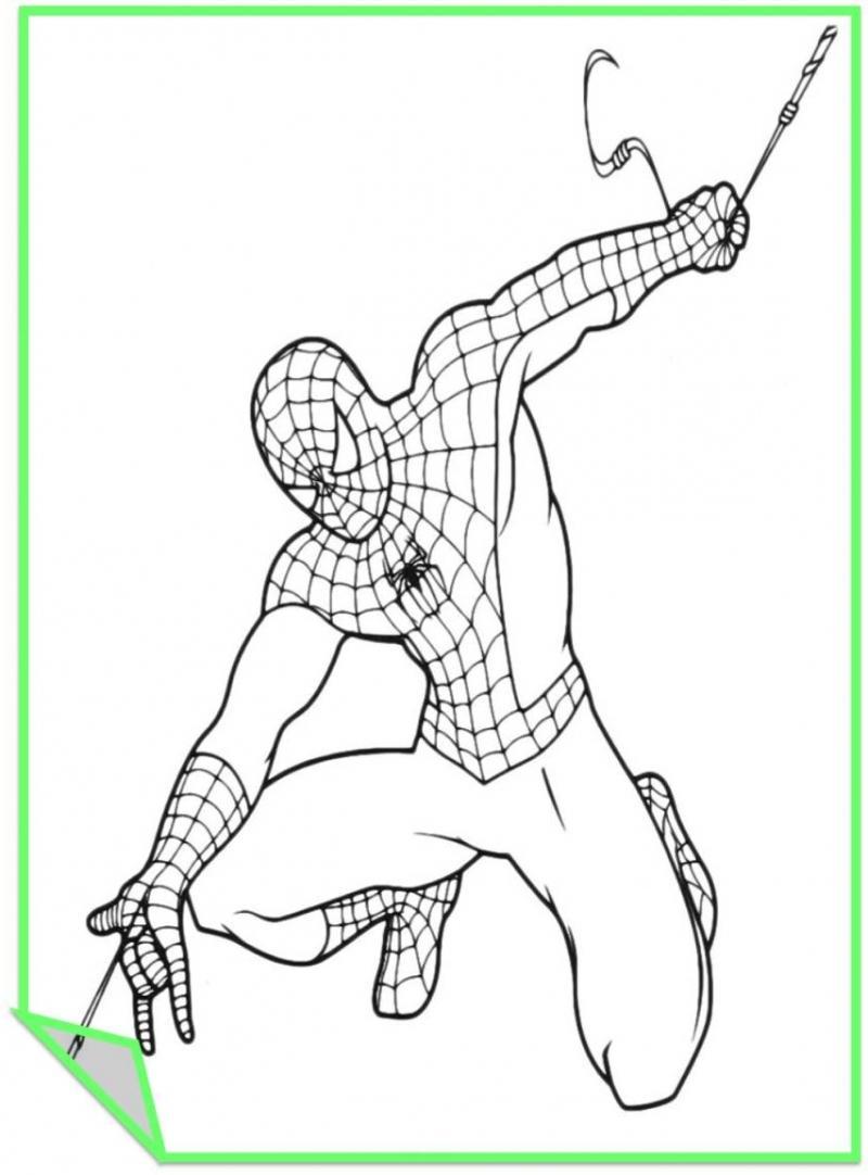 Человек паук раскраски для печати