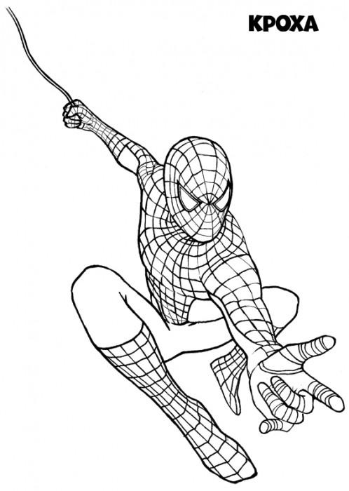 Раскраски для мальчика человек паук распечатать - 10
