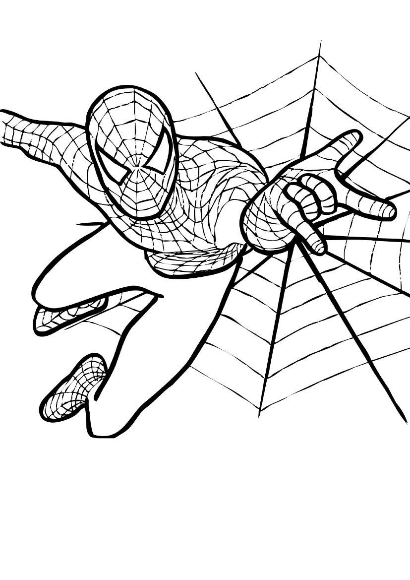 Играть в раскраски для мальчиков человек паук