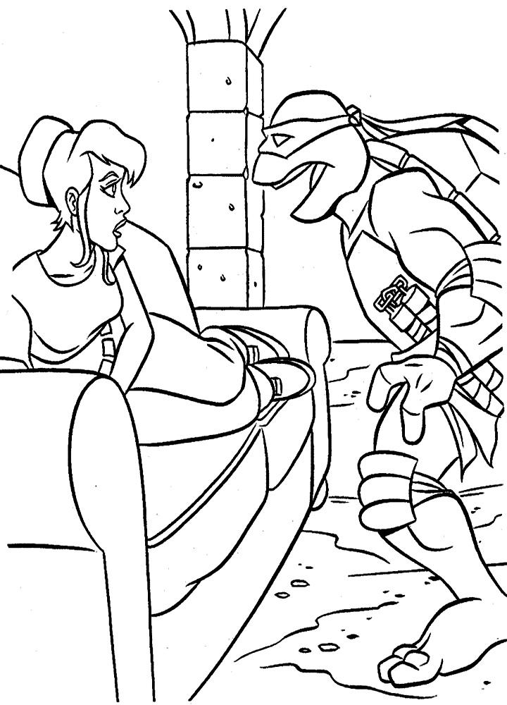 Раскраска для девочек черепашки ниндзя