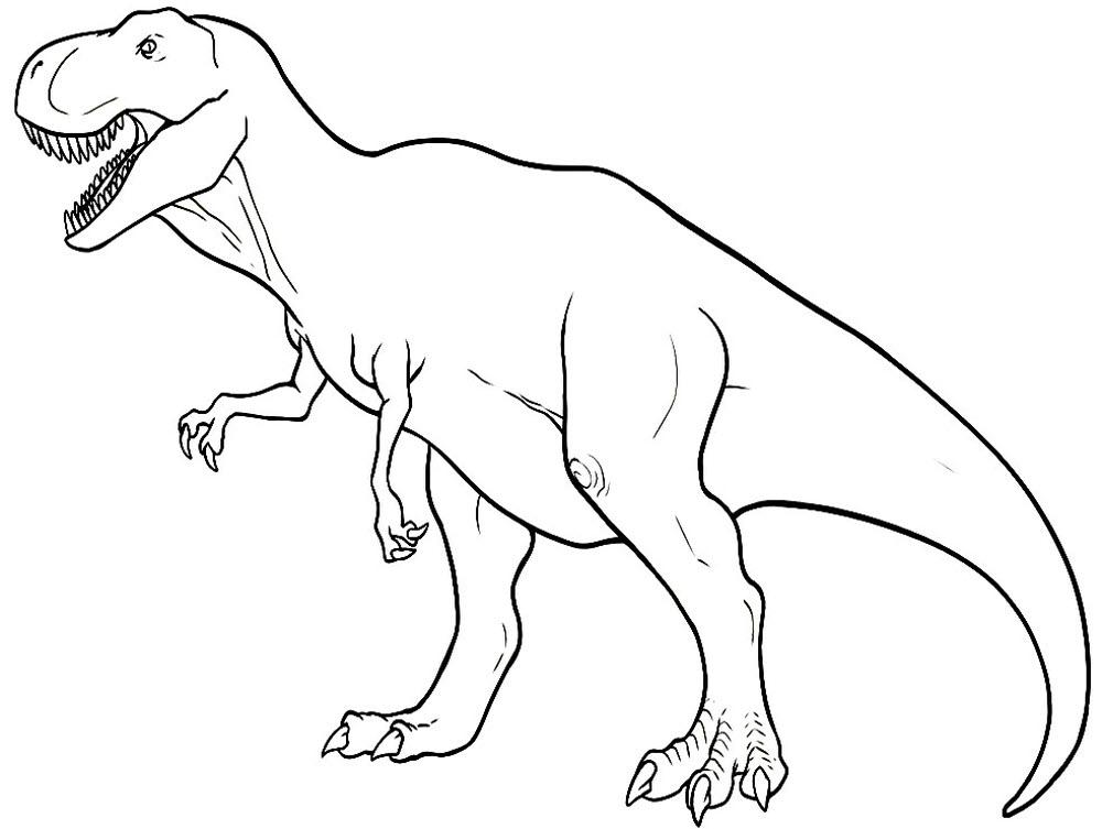 Рисунки динозавры для раскраски