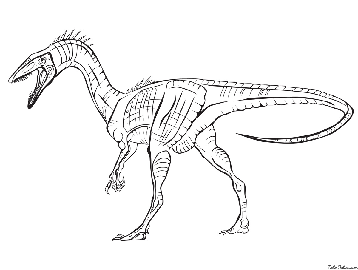 Раскраска динозавры распечатать - 7