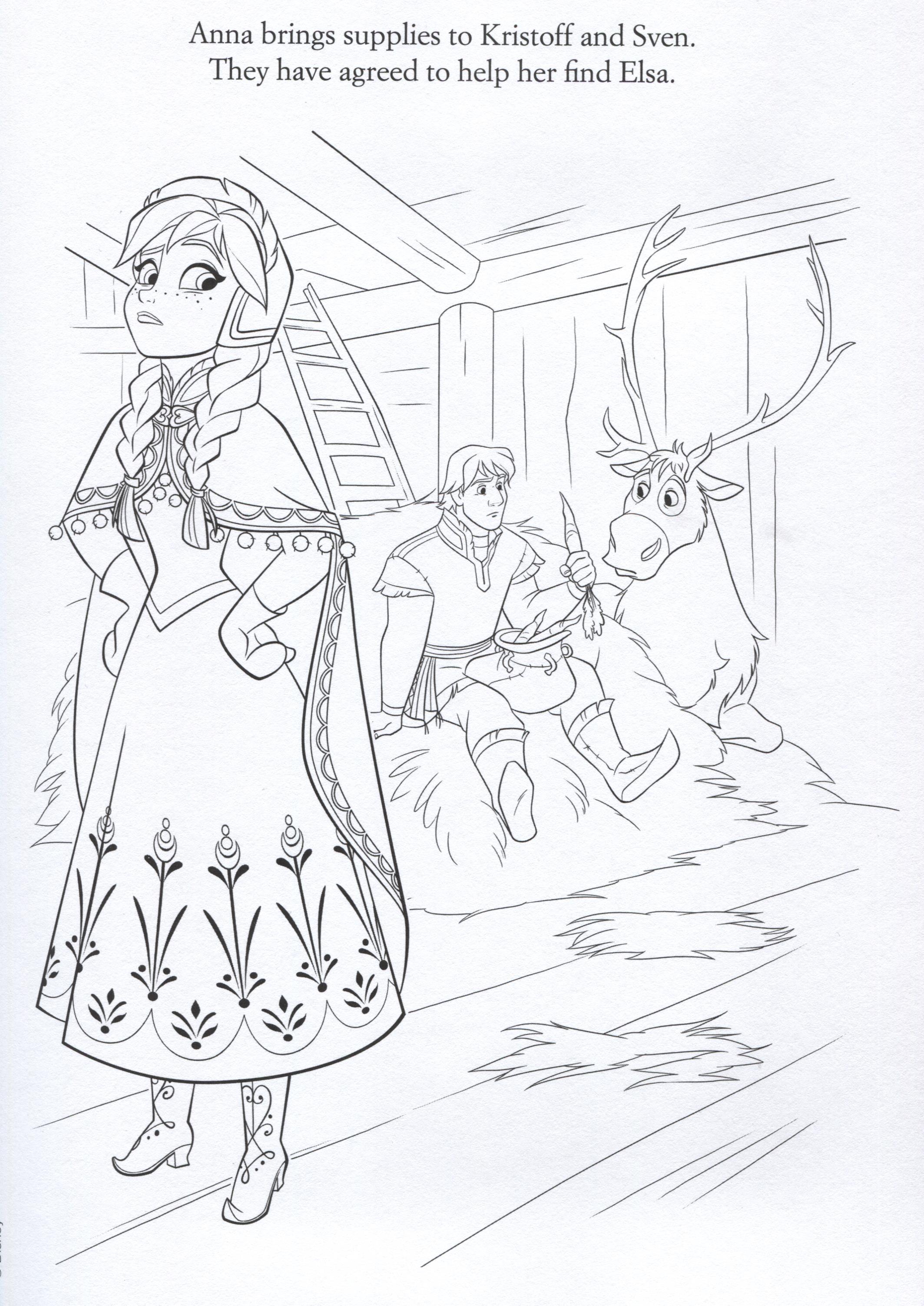 Frozen coloring pages let it go - Raskraski Kholodnoe Serdtse 20
