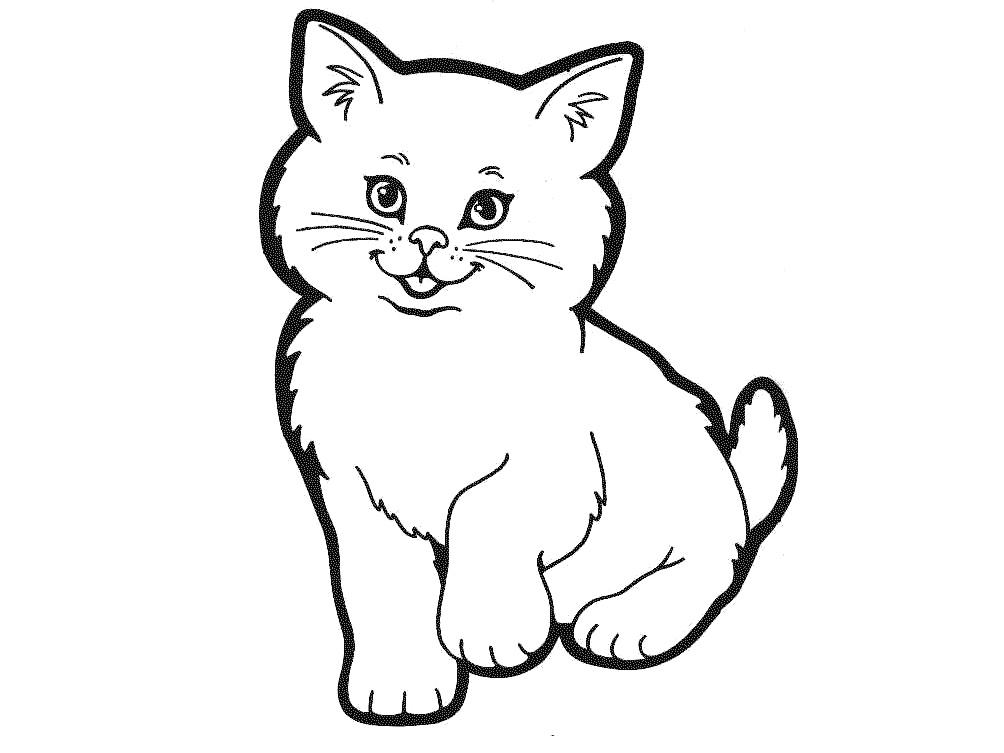Картинки с кошкой раскраски