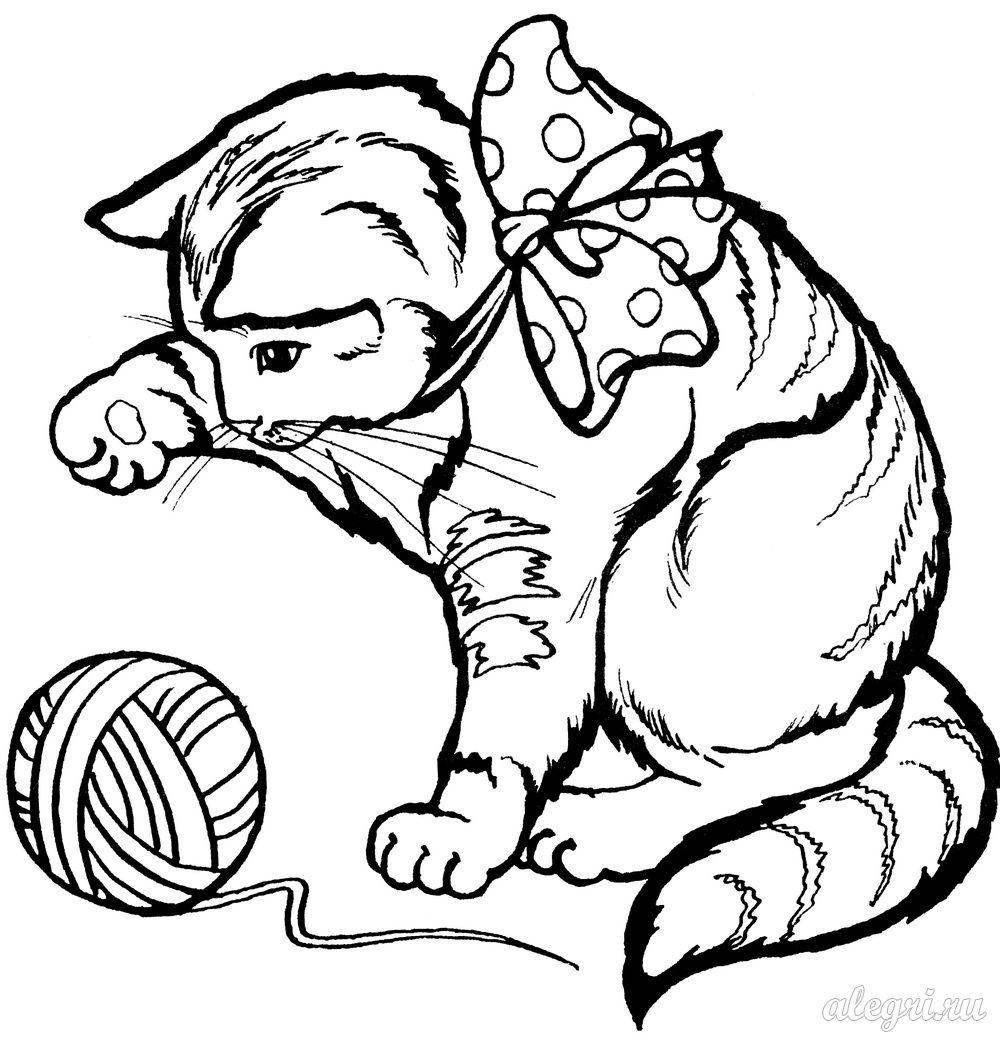 Бесплатно раскраски кошки играть онлайн