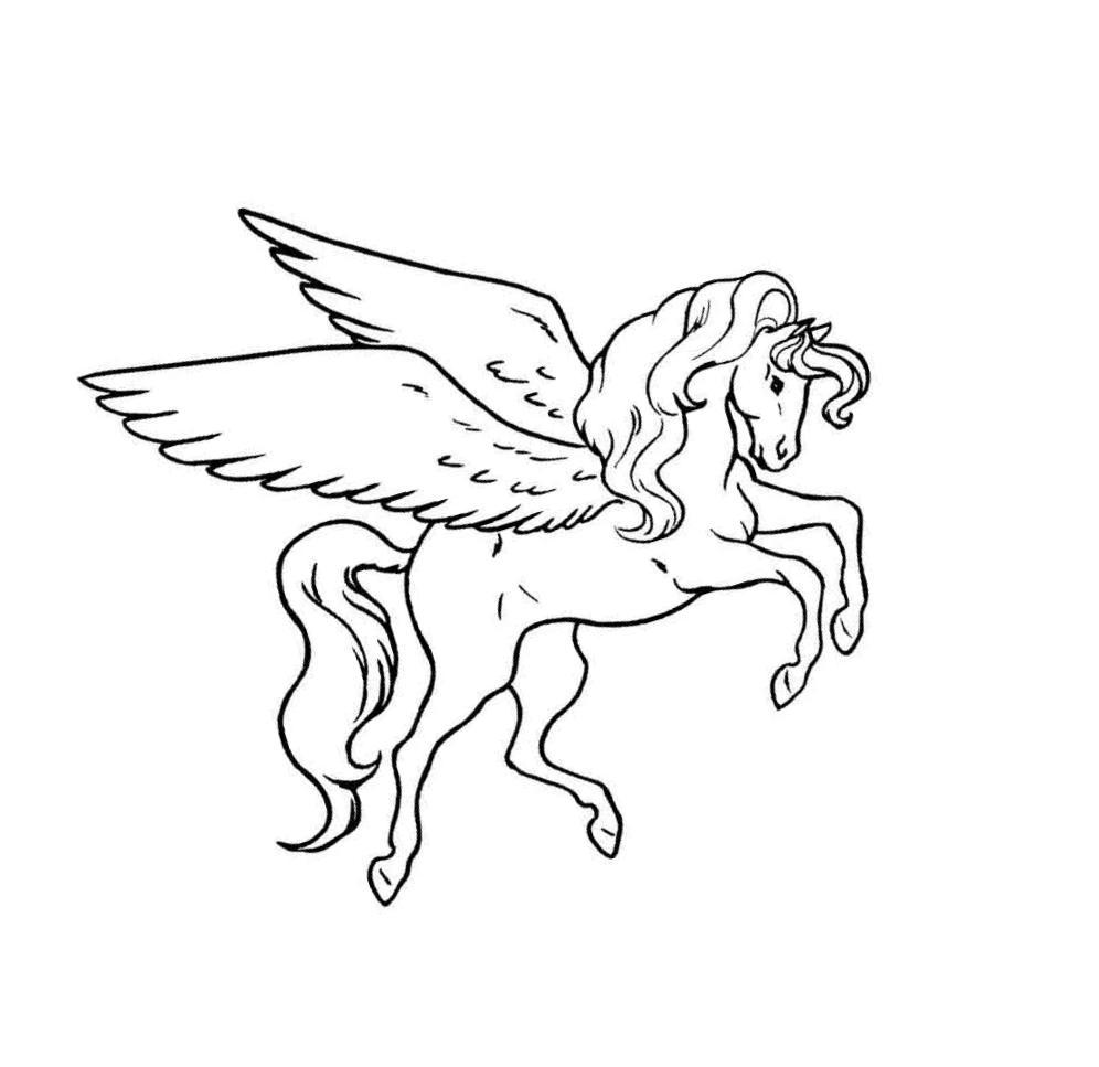 Раскраски лошадки - 10