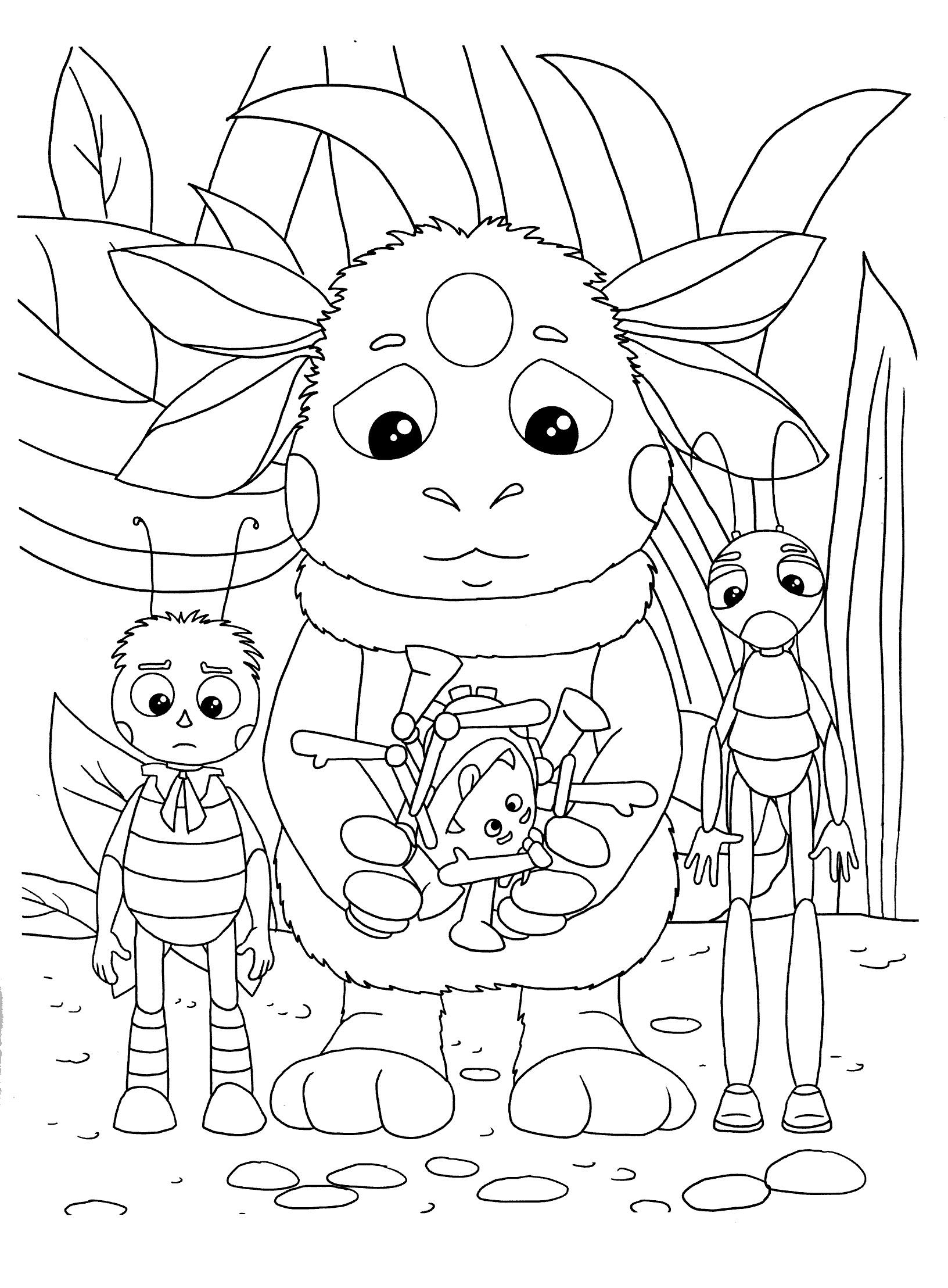 Раскраски лунтик для детей онлайн бесплатно