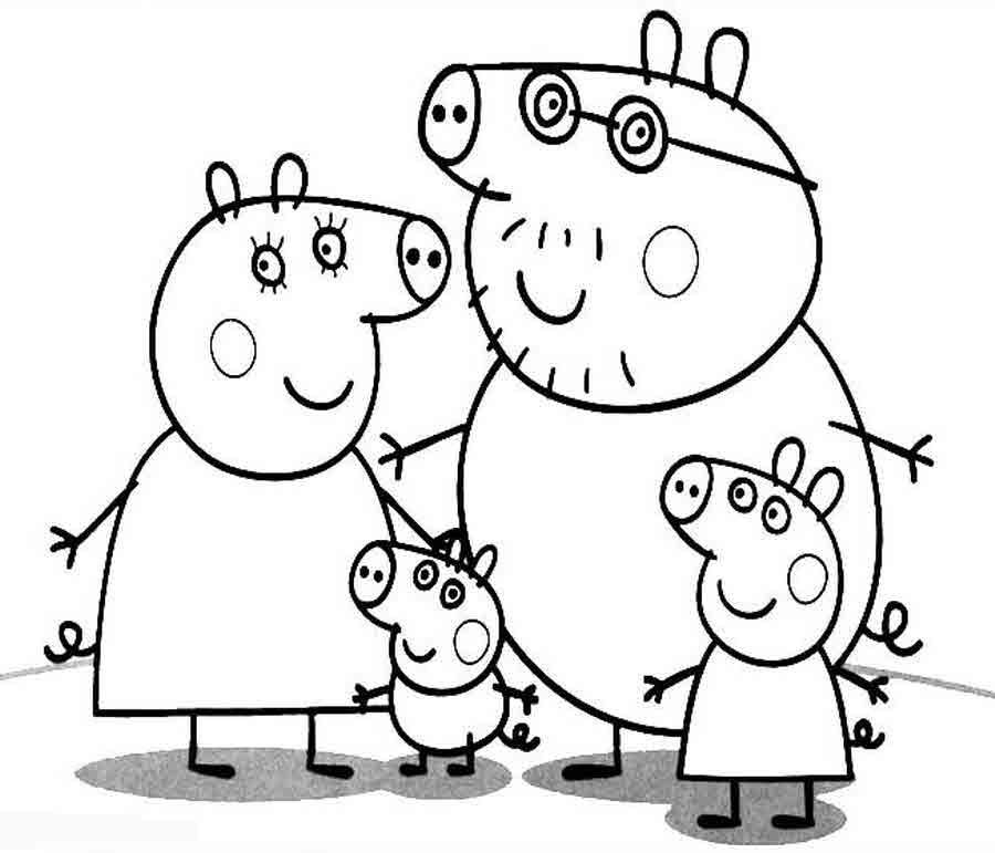 Раскраски свинки пеппы - 10