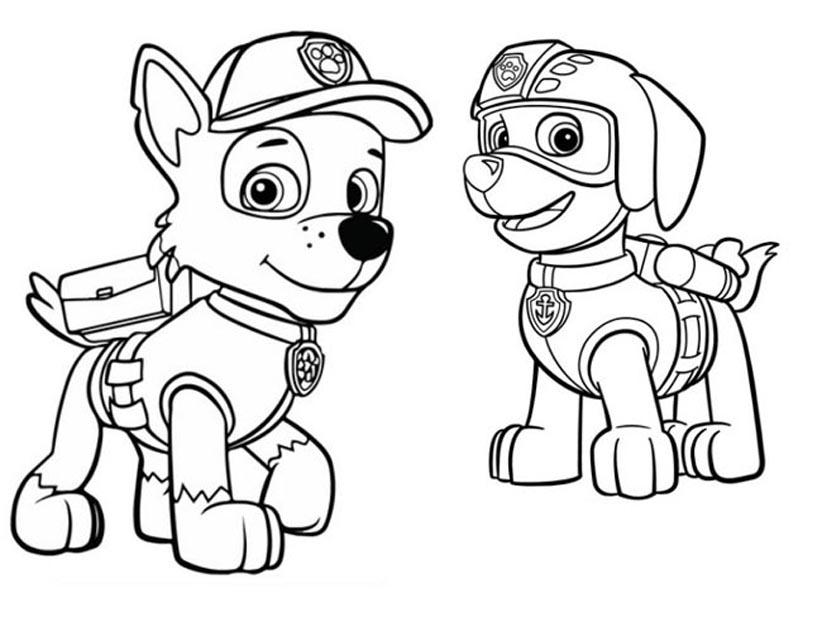раскраски щенячий патруль скачать и распечатать бесплатно