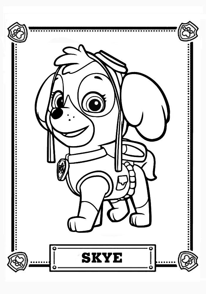 Раскраски для мальчиков щенячий патруль распечатать бесплатно - 2