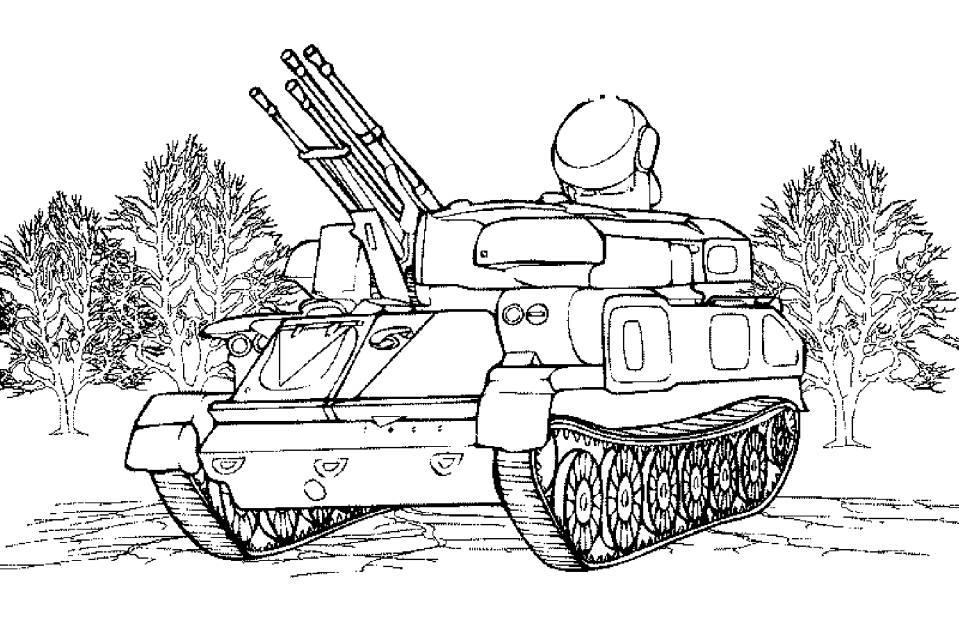 Раскраска для мальчиков танки распечатать - 6