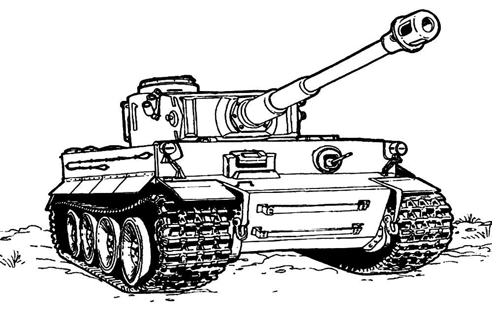 Игры танки раскраска