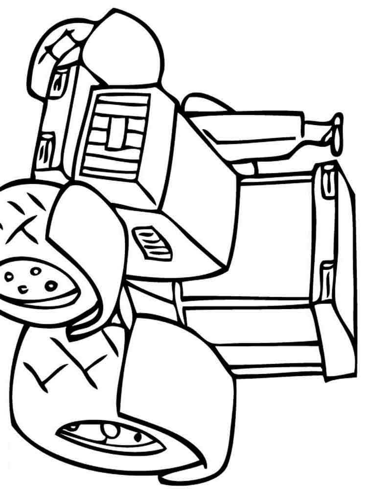 Раскраски трактор - 7
