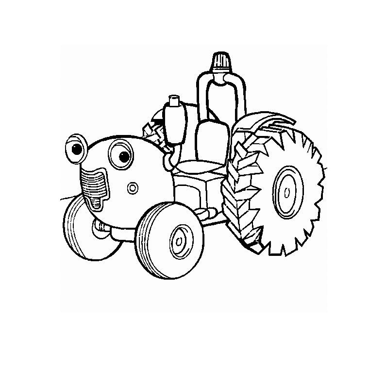 Трактор раскраска - 3
