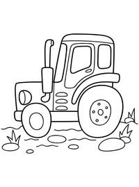 Трактор раскраска для малышей - 5