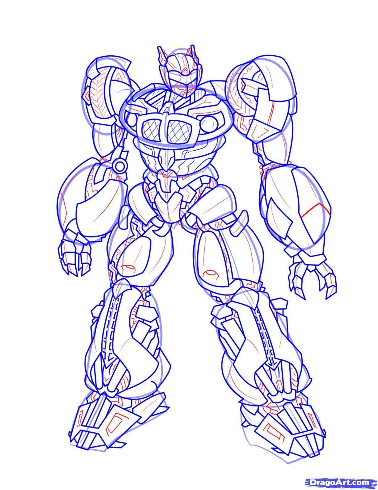 Робот трансформеры рисунки