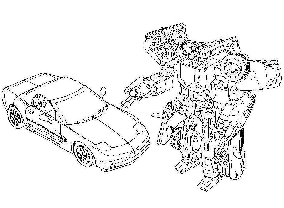 Робот трансформер раскраски