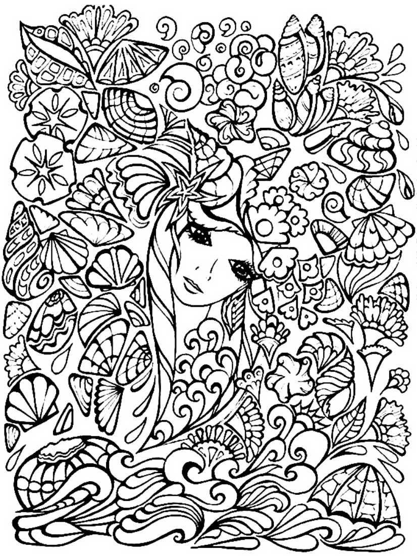 Картинки для раскраски для девочек узоры