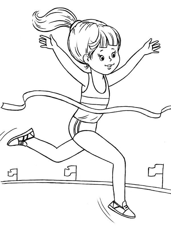 Раскраски о спорте для детей - это картинки на спортивные темы для детей